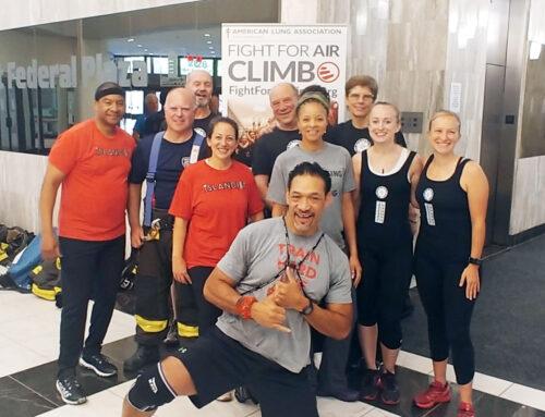 """Fight for Air Climb"" Team Trains with IslandFit"