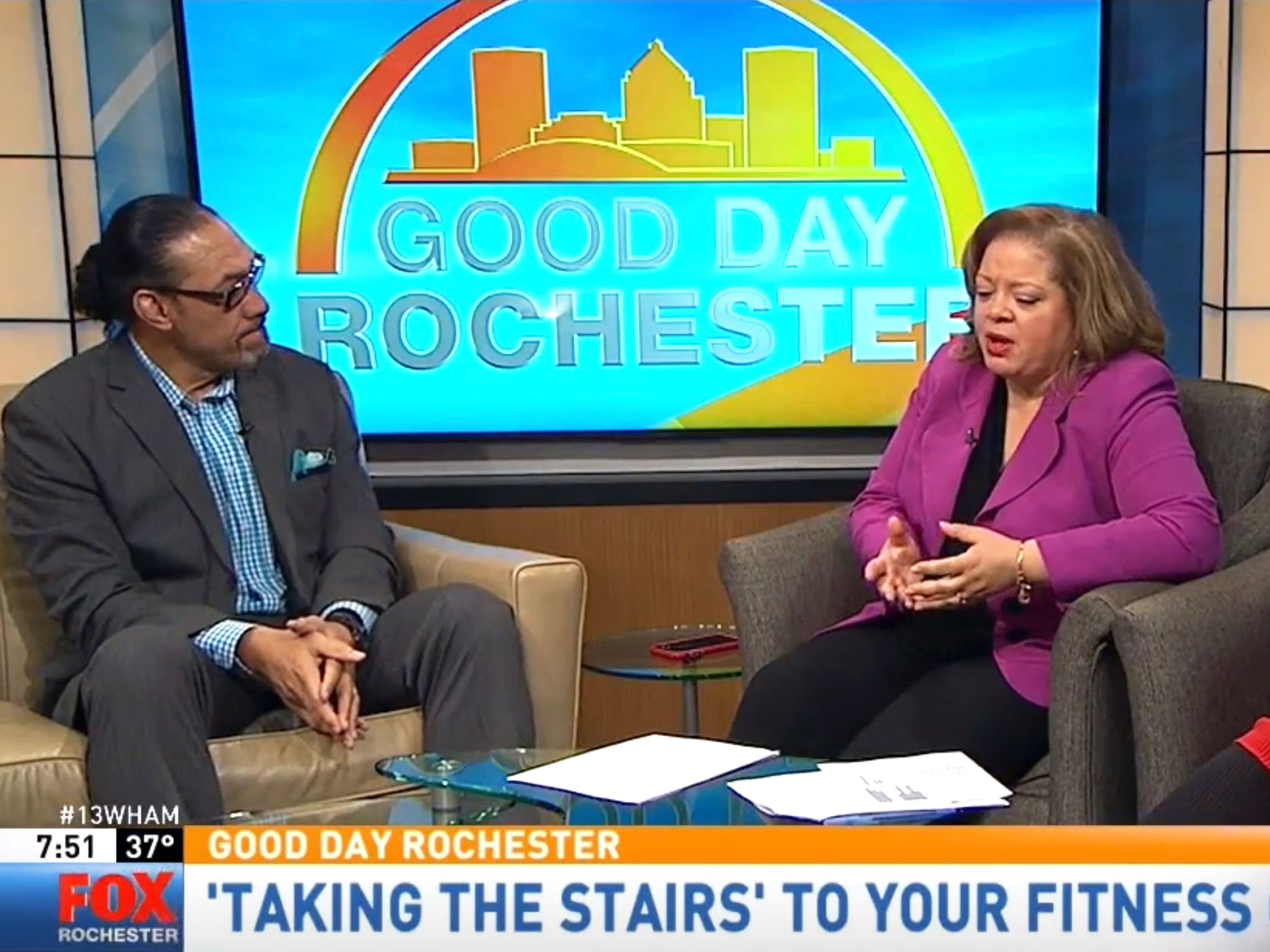 Eke makes guest appearance on Good Day Rochester